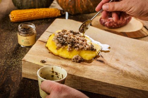 Polenta with truffle